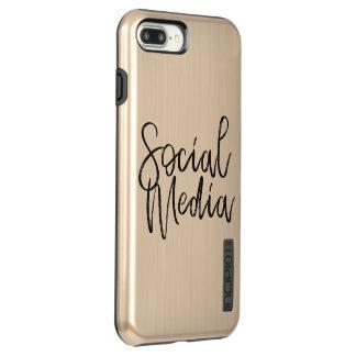 Capa Incipio DualPro Shine Para iPhone 8 Plus/7 Pl Tipografia social dos amantes dos meios