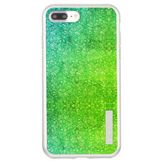 Capa Incipio DualPro Shine Para iPhone 8 Plus/7 Pl Vitalidade colorida brilhante floral verde de néon