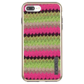 Capa Incipio DualPro Shine Para iPhone 8 Plus/7 Pl Weave feito malha da onda do preto do verde da