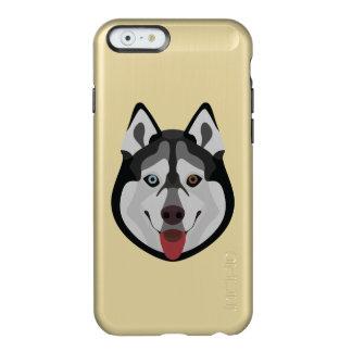 Capa Incipio Feather® Shine Para iPhone 6 A ilustração persegue o rouco Siberian da cara