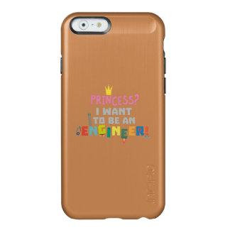 Capa Incipio Feather® Shine Para iPhone 6 A princesa Eu quer ser um Engnineer Z2yb2