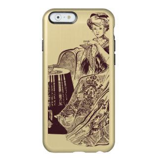 Capa Incipio Feather® Shine Para iPhone 6 a senhora bebe o chá