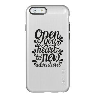 Capa Incipio Feather® Shine Para iPhone 6 Abra seu coração às aventuras novas