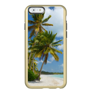 Capa Incipio Feather® Shine Para iPhone 6 Água tropical de turquesa da praia e palmas