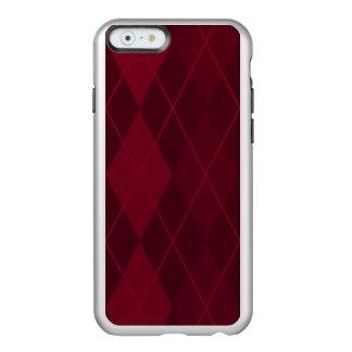 Capa Incipio Feather® Shine Para iPhone 6 Argyle vermelho