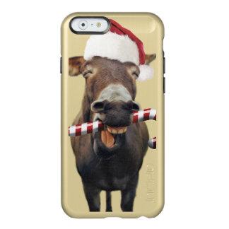 Capa Incipio Feather® Shine Para iPhone 6 Asno do Natal - asno do papai noel - papai noel do