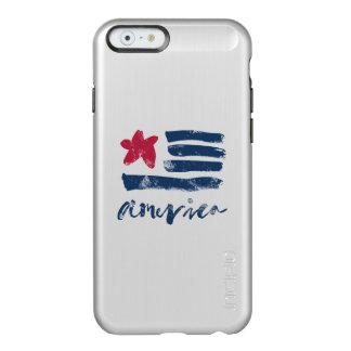 Capa Incipio Feather® Shine Para iPhone 6 Bandeira americana Paintstrokes