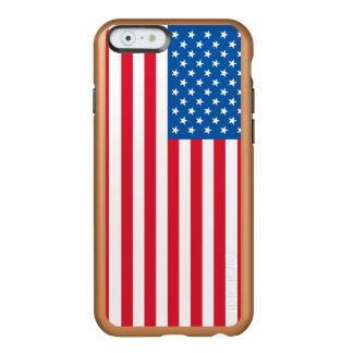 Capa Incipio Feather® Shine Para iPhone 6 Bandeira dos Estados Unidos da bandeira dos EUA