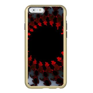 Capa Incipio Feather® Shine Para iPhone 6 Branco preto vermelho do Fractal