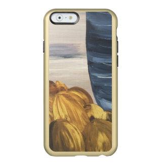 Capa Incipio Feather® Shine Para iPhone 6 Caneca & feijões azuis de café