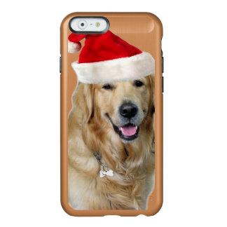 Capa Incipio Feather® Shine Para iPhone 6 Cão-animal de estimação do cão-papai noel de claus