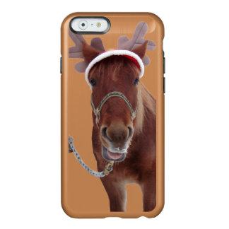 Capa Incipio Feather® Shine Para iPhone 6 Cervos do cavalo - cavalo do Natal - cavalo
