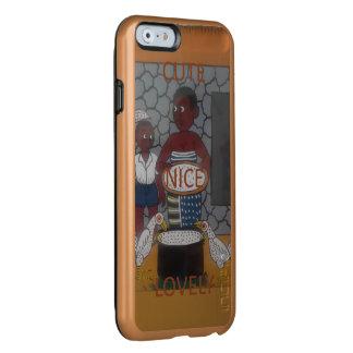 Capa Incipio Feather® Shine Para iPhone 6 Cores africanas bonitas agradáveis do estilo