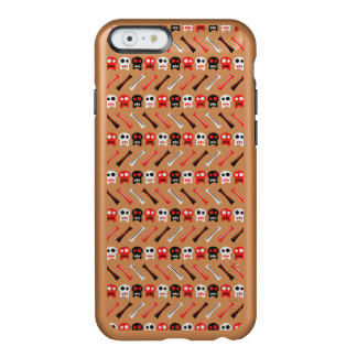 Capa Incipio Feather® Shine Para iPhone 6 Crânio cómico com teste padrão colorido dos ossos