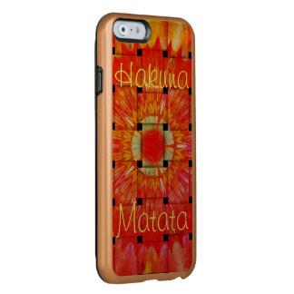 Capa Incipio Feather® Shine Para iPhone 6 Criar seu próprio bonito bonito colorido de Hakuna
