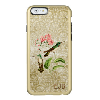 Capa Incipio Feather® Shine Para iPhone 6 Damasco do colibri da gema da montanha Monogrammed