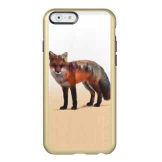 Capa Incipio Feather® Shine Para iPhone 6 Exposição dobro do Fox - arte da raposa - raposa