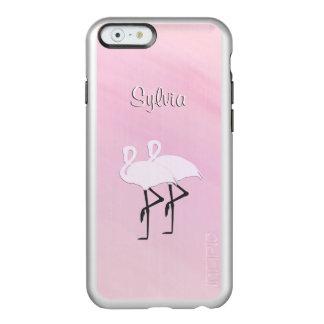 Capa Incipio Feather® Shine Para iPhone 6 Flamingos cor-de-rosa pessoais
