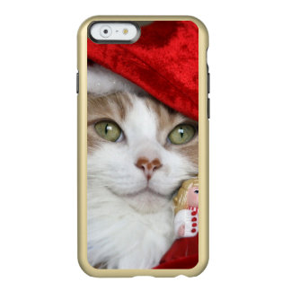 Capa Incipio Feather® Shine Para iPhone 6 Gato do papai noel - gato do Natal - gatinhos