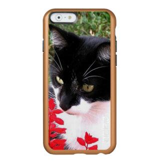 Capa Incipio Feather® Shine Para iPhone 6 Gato impressionante do smoking no jardim