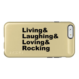 Capa Incipio Feather® Shine Para iPhone 6 Living&Laughing&Loving&ROCKING (preto)