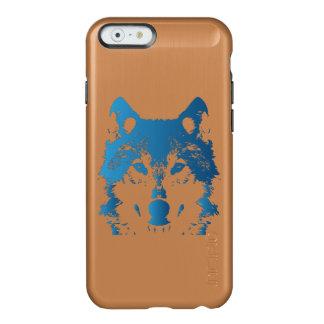 Capa Incipio Feather® Shine Para iPhone 6 Lobo do azul de gelo da ilustração