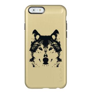 Capa Incipio Feather® Shine Para iPhone 6 Lobo preto da ilustração