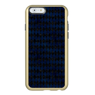 CAPA INCIPIO FEATHER® SHINE PARA iPhone 6  MÁRMORE DIAMOND1 PRETO & GRUNGE AZUL