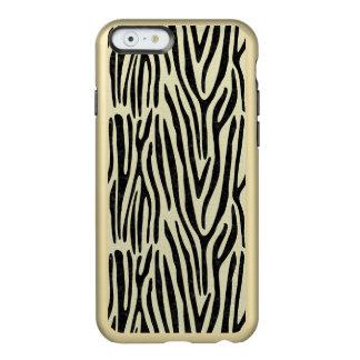 CAPA INCIPIO FEATHER® SHINE PARA iPhone 6  MÁRMORE SKIN4 PRETO & LINHO BEGE