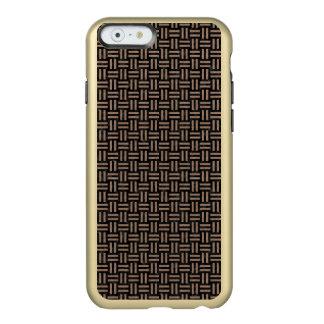 CAPA INCIPIO FEATHER® SHINE PARA iPhone 6  MÁRMORE WOVEN1 PRETO & LÁPIS DE COR CASTANHA