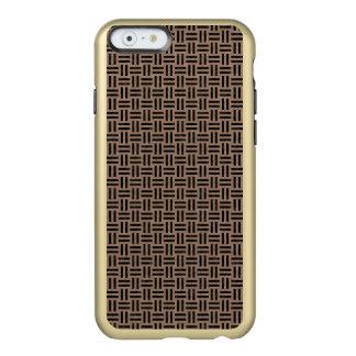 CAPA INCIPIO FEATHER® SHINE PARA iPhone 6  MÁRMORE WOVEN1 PRETO & LÁPIS DE COR CASTANHA (R)