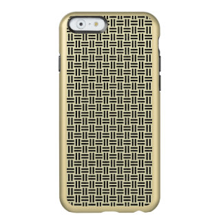 CAPA INCIPIO FEATHER® SHINE PARA iPhone 6  MÁRMORE WOVEN1 PRETO & LINHO BEGE (R)