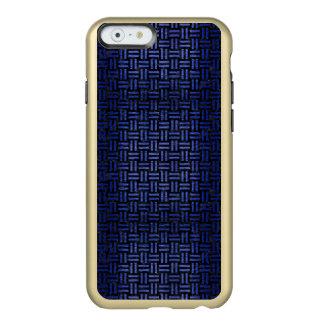 CAPA INCIPIO FEATHER® SHINE PARA iPhone 6  MÁRMORE WOVEN1 PRETO & METAL ESCOVADO AZUL