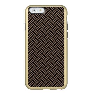 CAPA INCIPIO FEATHER® SHINE PARA iPhone 6  MÁRMORE WOVEN2 PRETO & LÁPIS DE COR CASTANHA