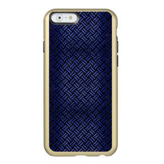 CAPA INCIPIO FEATHER® SHINE PARA iPhone 6  MÁRMORE WOVEN2 PRETO & METAL ESCOVADO AZUL