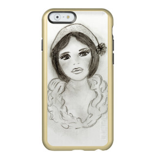 Capa Incipio Feather® Shine Para iPhone 6 Menina Ruffled do Flapper