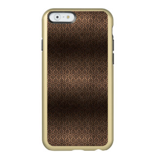 CAPA INCIPIO FEATHER® SHINE PARA iPhone 6  METAL PRETO DO MÁRMORE HEXAGON1 & DO BRONZE (R)