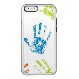 Capa Incipio Feather® Shine Para iPhone 6 Miúdos Handprints na pintura