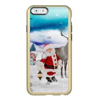 Capa Incipio Feather® Shine Para iPhone 6 Papai Noel engraçado
