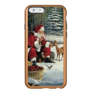 Capa Incipio Feather® Shine Para iPhone 6 Pintura de Papai Noel - arte do Natal