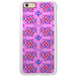 Capa Incipio Feather® Shine Para iPhone 6 Plus Abstrato do teste padrão do caleidoscópio do rosa