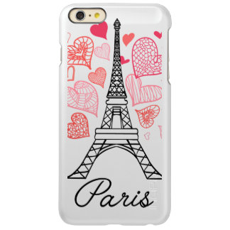 Capa Incipio Feather® Shine Para iPhone 6 Plus Amor de Paris, France