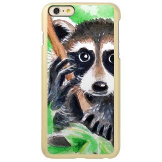 Capa Incipio Feather® Shine Para iPhone 6 Plus Arte bonito da aguarela do guaxinim