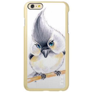 Capa Incipio Feather® Shine Para iPhone 6 Plus Arte bonito do Titmouse
