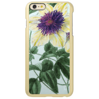 Capa Incipio Feather® Shine Para iPhone 6 Plus Arte da flor do Clematis