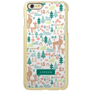 Capa Incipio Feather® Shine Para iPhone 6 Plus Bambi e o teste padrão | dos amigos da floresta