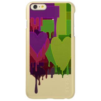 Capa Incipio Feather® Shine Para iPhone 6 Plus Blocos da cor que derretem corações