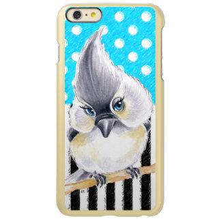 Capa Incipio Feather® Shine Para iPhone 6 Plus Bolinhas bonitos do Titmouse