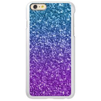 Capa Incipio Feather® Shine Para iPhone 6 Plus Brilho azul & roxo elegante 4 do falso
