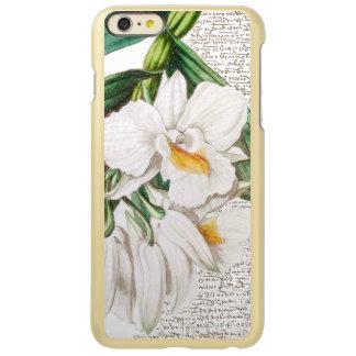Capa Incipio Feather® Shine Para iPhone 6 Plus Caligrafia branca das orquídeas